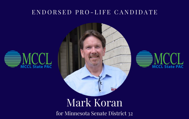 I am proud to have received the endorsement from MCCL PAC.